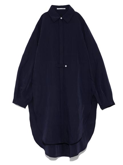 サイドスリットロングシャツ(NVY-F)