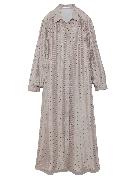 小紋柄シャツドレス