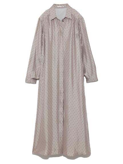 小紋柄シャツドレス(SLV-F)