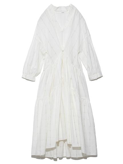 チェックティアードドレス(WHT-0)