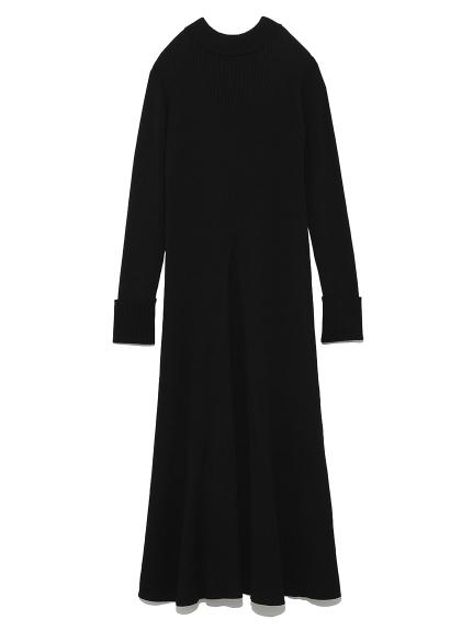 リブニットドレス